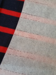 My method of stripe matching. Super easy, just make sure the marks extend a way in from the seam allowance.