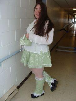 Matching skirt, spats and purse!
