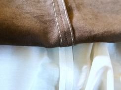 Close-up of the seams